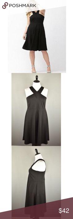 72f0fd268bca Lane Bryant Crepe Halter Skater Dress Lane Bryant Women s Black Crepe  Halter Skater Dress 18   20 NEW Brand  Lane Bryant Size  18   20 Chest   Waist  Length  ...