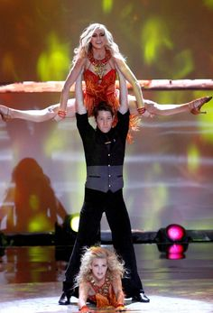 """Top To Bottom: Top 20 contestants Lindsay Arnold, Nick Bloxsom-Carter and Witney Carson perform a Latin Ballroom routine to """"Dance Again"""" choreographed by Jason Gilkison on SO YOU THINK YOU CAN DANCE."""