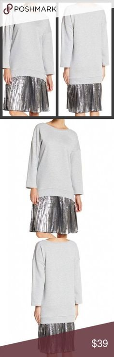 Ideas For Sweatshirt Dress Runway Leggings Outfit Winter, Dresses With Leggings, Leggings Fashion, Knife Pleated Skirt, Midi Skirt, Sweatshirt Dress, Toddler Dress, Editorial Fashion, Pullover Sweaters