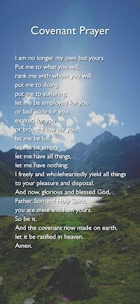 John Wesley's Covenant Prayer