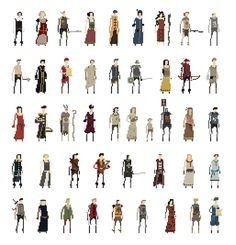 Some of the many characters you will encounter in the game.