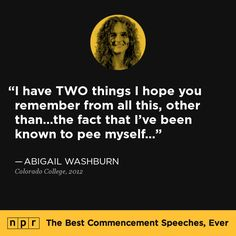 Abigail Washburn, 2012. From NPR's The Best Commencement Speeches, Ever.
