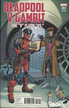 Marvel Deadpool vs Gambit comic issue 4 Limited variant