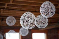 Hobart and Haven: String Chandeliers- DIY wedding decoration