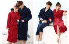 Peignoir couple glamourous bleu et rouge  #red #blue #color #winter #couple #peignoir