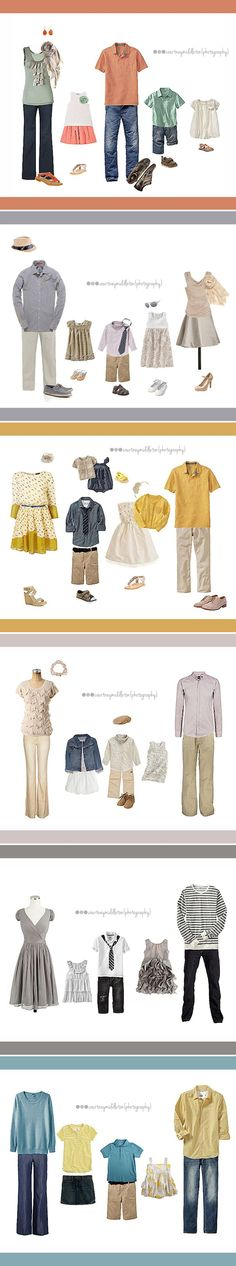 What to wear for a family photo. Great outfits. #whattowear #family #photography