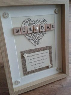 a79f2536895f SCRABBLE FRAME Picture Personalised rustic Thank you Wedding Bridesmaid Mum  GIFT