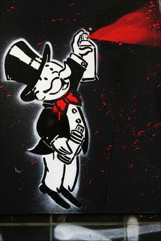 ΔLΞC Monopoly Streetart by URBAN ARTefakte, via Flickr