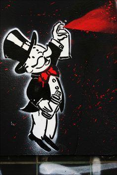 ΔLΞC Monopoly Streetart by URBAN ARTefakte, via Flickr