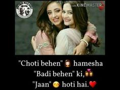 what's app status for sister Sister Quotes In Hindi, Cute Family Quotes, Brother Sister Love Quotes, Sister Songs, Niece Quotes, Love My Parents Quotes, Cute Quotes For Girls, Sister Quotes Funny, Besties Quotes