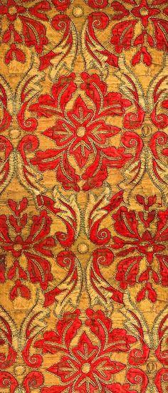 18th Century Graphic Textile ~ Antique Spanish