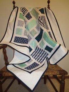 Image result for modern baby boy quilts