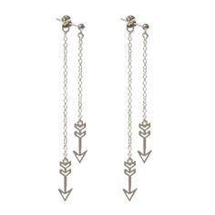 Double Arrow Post Earrings