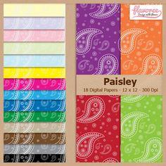 Digital Scrapbook Paper Pack PAISLEY PATTERN Instant от Flavoree