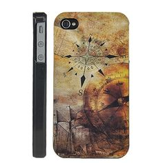 Accurate Compass Hard Back  Case for iPhone 4 / 4S