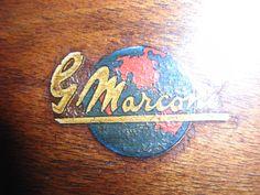 """Marconi M 49 """"Antique radio"""", """"Tube radio"""" Antique Radio, Porsche Logo, Tv, Logos, Antiques, Antiquities, Antique, Television Set, Logo"""
