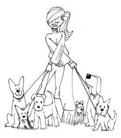 Ladybug Crafts Ink- Nikki & Friends Stamp Collection- Nikki Dogwalker