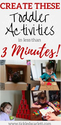 Create These Toddler Activities In Less Than 3 Minutes- Tickled Scarlett