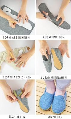 felted old sweaters DIY ideetje voor kindersloffen uit vilt Lasso Wool Slippers - The New DomesticExceptional 10 Sewing tips are available on our web pages. Read more and you wont be sorry you did.Easy 15 Sewing projects are offered on our Amaz Felt Shoes, Techniques Couture, Shoe Pattern, How To Make Shoes, Love Sewing, Sewing Diy, Sewing Projects For Beginners, Diy Projects, Sewing Patterns Free