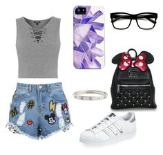 """""""flip"""" by im96bis on Polyvore featuring Topshop, adidas, Loungefly and Cartier"""