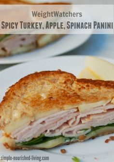 Weight Watchers spicy turkey apple spinach panini 6 smart points. Simple & Delicious! http://simple-nourished-living.com/2015/12/weight-watchers-spicy-turkey-apple-and-spinach-panini-6-smartpoints/