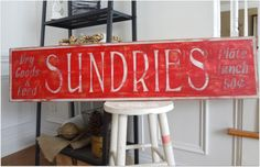Sundries Sign and a whole blogful of silhouette projects