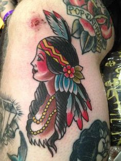 Tattoos - Dustin Golden - INDIAN GIRL gypsy Indian girl lmao I love ha would work perfect for this Indian girl :) -Me