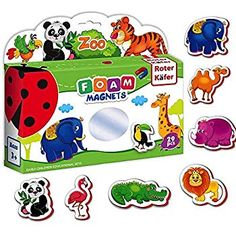 Refrigerator magnets for kids Zoo Animals - 29 foam fridge magnets for toddler - kids magnets - Baby magnets - Zoo animals for toddlers - Magnetic toys - Zoo animal toys - Animals toys - Toddler toys Toddler Age, Toddler Learning, Learning Toys, Toddler Toys, Kids Zoo, Animals For Kids, Zoo Animals, Wild Animals, Pet Toys