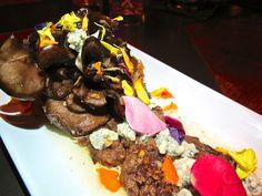 Maitake mushroom blossom at 3rd St. Promenade tapas restaurant, Taberna Arros y Vi