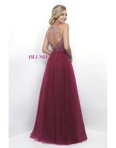 Halter Open Back Gown