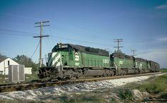 BN (exFrisco) train symbol 793 at Koshkonong, MO