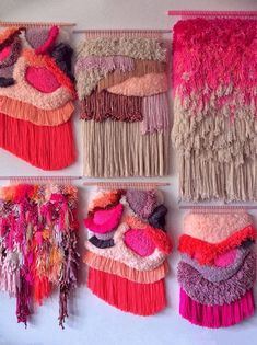 MADE TO ORDER - Landscape - Important! Weaving Loom Diy, Weaving Art, Tapestry Weaving, Hand Weaving, Fabric Art, Fabric Crafts, Weaving Wall Hanging, Wall Hangings, Colorful Tapestry