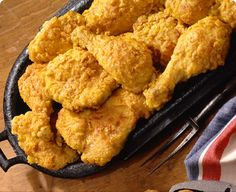 Southern Style Oven Fried Chicken Recipe - 4 Point Value - LaaLoosh