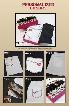 DIY Project: Personalized Boxers Full step by step tutorial with free template at www.chiclifestyle.ca