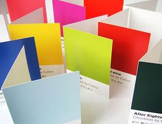 Pantone inspired Christmas cards. It's EVERYWHERE.