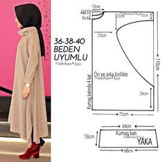 Fashion Sewing Clothing Accessory Design Hijab DIY Kombin Hijab Fashion … - Ideas For Diy Sewing Dress, Dress Sewing Patterns, Clothing Patterns, Muslim Fashion, Hijab Fashion, Moda Hijab, Hijab Mode, Kaftan Pattern, Diy Clothes