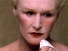 """Glenn Close as the Marquise de Merteuil in """"Dangerous Liaisons"""" The Marquise removes her makeup as the screen slowly fades to black. (I freaking loved Dangerous Liaisons. This version and the Asian version with Ziyi Zhang. Glenn Close, Dangerous Liaisons, Face Pictures, Pretty Pictures, Artist And Craftsman, Making A Movie, Fade To Black, Fantasy Makeup, Period Dramas"""