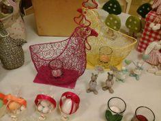 #pasqua #coniglietto #coniglio #gallinella #gallina #decorazioni #ovetti #confetti #candele #portacandele #segnaposto