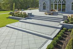When it comes to patio slabs, some say: go bold or go home. Aberdeen Slabs are massive and luxurious, and could be just what you need. See for yourself! Paver Sidewalk, Civil Construction, Patio Slabs, Backyard Retreat, Outdoor Living, Outdoor Decor, Elegant Homes, Pathways, Landscape Design