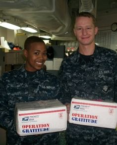 ...More care packages = More smiles...