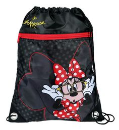 Bolsa de tela Minnie Mouse 31 cm. Disney Preciosa bolsa de tela totalmente oficial y fabricada en material de poliéster y en color negro de la simpática Minnie Mouse perteneciente a la conocida y famosa factoría Disney. Mickey Mouse And Friends, Mickey Minnie Mouse, Baby Hair Brush, Disney On Ice, Walt Disney, Purse Wallet, Pouch, Estilo Disney, Disney Purse