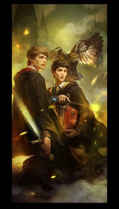 Fanart: Emrys Ascending - mushroomtale - Merlin (TV) [Archive of Our Own]