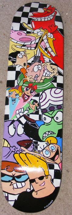 One of my favorite decks that I've done. Cartoon Cartoon Fridays. We have the Red Guy, Cow and Chicken, Ed Edd and Eddy, PowerPuff Girls, Mojo Jojo, Courage the Cowardly Dog, DeeDee, Dexter, and Johnny Bravo