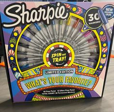 Sharpie, Storage Ideas, Spinning, Markers, Coloring, Tray, Mandalas, Hand Spinning, Sharpies
