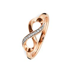 caï Damenring Unendlichkeit C1714R/90/93/50 Copper Rose, Rose Gold, Gold Rings, Wedding Rings, Engagement Rings, Tattoos, Jewelry, Style, Infinity