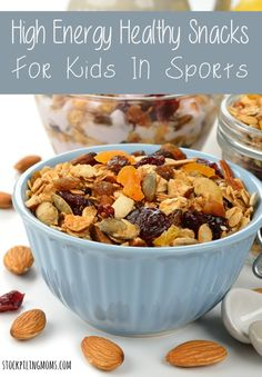 High Energy Healthy Snacks for Kids in Sports - when you need to fuel your kids pre and post game we have healthy ideas for you!