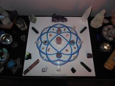 Look at this amazing Atomic Boost Crystal Grid by Janet G.  She make this to release Self Judgement and Fill the Heart with Love.  Gorgeous, Janet!!!!! Thank You for sharing.  #CrystalHealing #AtomicBoostCrystalGrid If you wish to purchase an Atomic Boost Crystal Grid Cloth go to www.thehowoftao.com Crystal Grid, Crystal Healing, Fill, Paradise, Crystals, Friends, Heart, Amazing, How To Make