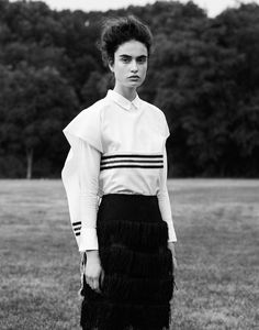 Pauline Van der Cruysse by Aingeru Zorita for Razou | fashion editorial | black & white photography | striped | stripes | zebra