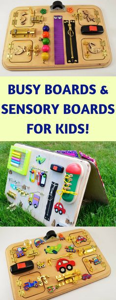 These busy boards and sensory boards are awesome for kids of all ages! I love learning toys and they are perfect as gifts!! #affiliatelink #baby #kids #toys #gift #sensory