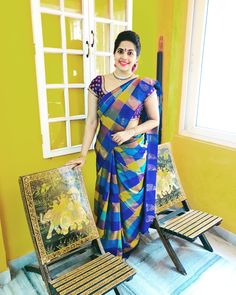 Tulsifashion - Buy Jewellery Sets, Unstitched Dress Material, Sarees Online on MyShopPrime Indian Beauty Saree, Indian Sarees, Silk Sarees, Pattu Saree Blouse Designs, Saree Models, Saree Look, Girly Pictures, Saree Styles, Indian Designer Wear